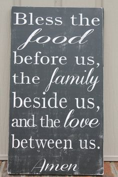 Bless the food before us the family beside us by SimpleChicLiving, $49.00