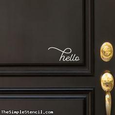 Hello Door Sticker   Vinyl Decals For Front Door, Walls & Windows by Simple Stencils