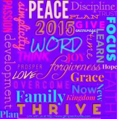 Come link up; share your word for the year. @a glimpse of our life: A Planned Focus ~ One Word for 2015 ~ NOW!