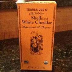 Trader Joe's Organic Shells and White Cheddar.  A favorite of ours because of the taste.  Free of dyes and annatto, organic, easy to mix, and just $1.49.