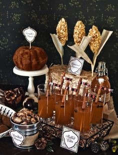 The more-elegant-less-rustic version of apple cider and cider cakes.