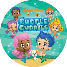 Eric 7x5ft Bubble Guppies Theme Photography Backdrop Ocean Bubble Kids Boy Girl Princess Birthday Party Photo Studio Booth Background Newborn Baby Shower Banner 165