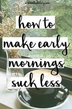 How to make early mornings suck less! Check out these tips from a morning person… How to make early mornings suck less! Check out these tips from a morning person to wake up easier before work or class! Miracle Morning, Morning Ritual, Early Morning, Morning Morning, Evening Routine, Night Routine, Morning Routines, Morning Habits, College Hacks