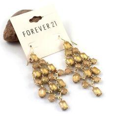 21 brand gem tassel texture earrings $22.5