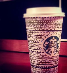 Starbucks coffee cup doodle