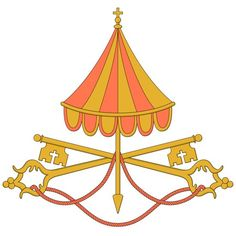 """This is the Vatican insignia representing a """"sede vacante"""" (vacant see). The emblem is used between the death (or resignation) of a pope and the election of a new one — a period known as the interregnum. The Holy See will be considered vacant at 8 p.m. in Rome Feb. 28, the official time of the resignation of Pope Benedict XVI. CNS illustration/Tim Meko"""