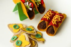 Pretend Play Felt Food Tacos Enchiladas and by madebyclairelouise, $44.00