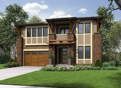4 Bed Contemporary With Options - 23573JD | 2nd Floor Master Suite, Bonus Room, Butler Walk-in Pantry, CAD Available, Contemporary, Den-Office-Library-Study, Modern, Northwest, PDF | Architectural Designs