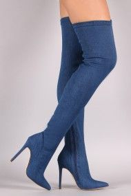 Liliana Thigh High Pointed Toe Stiletto Heel Boot