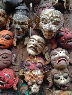 traditional balinese theater masks - Google Search