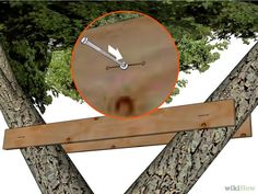 Image titled Build a Treehouse Step 16 Building A Treehouse, Building A Deck, Green Building, Pavilion Architecture, Sustainable Architecture, Residential Architecture, Contemporary Architecture, Tree House Designs, Small House Design