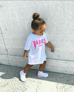 Cute Little Girls Outfits, Kids Outfits Girls, Toddler Girl Outfits, Cute Kids Fashion, Baby Girl Fashion, Toddler Fashion, Womens Fashion, Cute Mixed Babies, Cute Babies