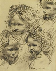 augustus edwin john: study of a child's head