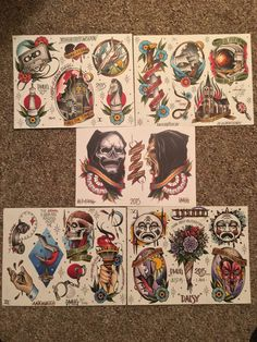 Limited edition, second and final pressing. 5 sheets on 120 lb. paper, 11x14 except for fight off your demons sheet, which is around 9x14. signed and
