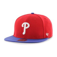 new style 3ff0d 70c97 Philadelphia Phillies Lil Shot Two Tone Captain Red 47 Brand YOUTH Hat  Detroit Game, Philadelphia
