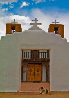 Day 6- Taos Church in which a combination of Roman Catholic and Native American religion is practiced according to our guide, Hailey. Mother Mary is the statue on the altar and she is dressed in colors depicting  the seasons.