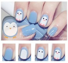 diserño corta cortas Faciles de Hacer En CASA 2018 For many of us, the lasting charm of nail art is that we can express our pleasures (no matter how wild or repressed) without the. Pretty Nail Art, Cute Nail Art, Nail Art Diy, Cute Nails, Girls Nail Designs, Diy Nail Designs, Nails For Kids, Girls Nails, Kid Nails