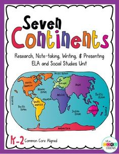 "Get your students reading informational text, taking notes, and writing about the text with this unit! Students had a great time learning about continents through research and note taking. They loved their completing their travel log after they ""visited"" each continent."