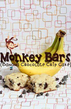 Monkey Bars (Banana Chocolate Chip Cake)