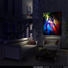 300 Artist Anna Bulka Fluorescent painting