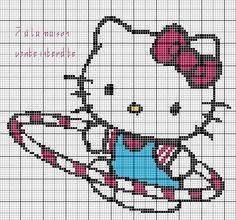 grille gratuite : Hello Kitty - Le blog de 7 à la maison, point de croix, tricot, grilles gratuites...