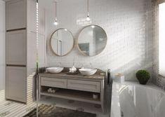 Retro koupelna | AŤÁK DESIGN Mirror, Bathroom, Retro, Furniture, Design, Home Decor, Washroom, Decoration Home, Room Decor