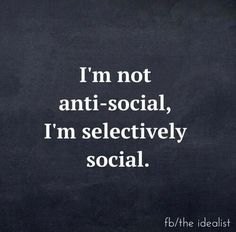 Selectively social !