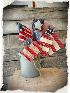 4th July Crafts, Fourth Of July Decor, 4th Of July Decorations, 4th Of July Party, July 4th, Americana Decorations, Rustic Americana Decor, Flag Decor, Memorial Day Decorations