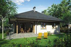 Projekt domu Tip Top 99,9 m2 - koszt budowy - EXTRADOM Tip Top, Gazebo, Outdoor Structures, Kiosk, Pavilion