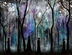 Haunted Forest - Annya Kai Art