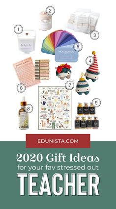 2020 has been a year! Especially for teachers! Teachers have been through a lot this year and definitely deserve an extra special gift this year! Check out this list of fantastic gifts to help your favorite stressed-out teacher reduce their stress and take care of themselves while supporting small businesses!