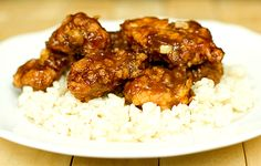 General Tso's Chicken. http://www.browneyedbaker.com/2012/04/16/general-tsos-chicken-recipe/