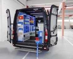 Van Racking Systems, Van Shelving, Mobile Workshop, Mobile Mechanic, Van Storage, Bipper, Garage Workshop, Workshop Ideas, Ford Transit