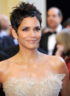 Halle Berry - she is sooo pretty, sometimes, I try to mimick her hairstyle as best as I know how...