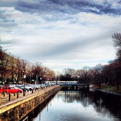 tram over the canal, gothenburg, sweden. Västtrafik is the agency responsible for public transport services involving buses, ferries, trains, and the…