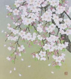 Weeping Cherry Tree by Morita Rieko.
