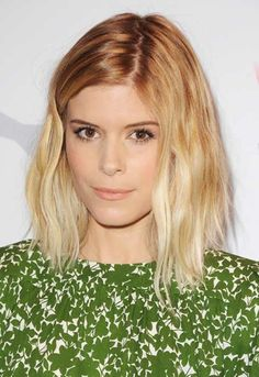 kate mara's lob- mist w/ salt spray and blow-dry upside down w/a diffuser for volume. See styling tips @ In Style