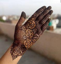 Dulhan Mehndi Designs, Modern Henna Designs, Khafif Mehndi Design, Mehndi Designs Finger, Floral Henna Designs, Henna Hand Designs, Latest Bridal Mehndi Designs, Stylish Mehndi Designs, Mehndi Designs 2018