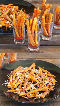 Baked Sweet Potato Fries is a healthy and irresistible, incredibly delicious accompaniment for any type of gathering. Its crispy, sweet, salty and spicy. Vegan Vegetarian, Vegetarian Recipes, Delicious Recipes, Appetizer Party, Appetizers, Healthy Indian Recipes, Vegetable Recipes, Potato Recipes, Healthy Snacks