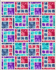 Boardwalk Place Quilt Pattern by The Quilt and Needle at KayeWood.com. Versatility and simple elegance, this quilt pattern was made to showcase beautiful fabrics.  You may choose simpler prints for a modern look, but this quilt pattern really makes any type of fabric shine! http://www.kayewood.com/Boardwalk-Place-Quilt-Pattern-in-5-Sizes-by-The-Quilt-and-Needle-QN-BOPL.htm $10.00