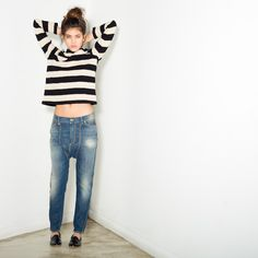 R13 Slim Crew Sweater | The Feathered