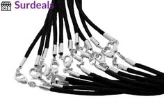 Spacer Beads 146301: Find-Its Black Satin Cords With Silver Lobster Clasp, 20-Inch -> BUY IT NOW ONLY: $32.9 on eBay!