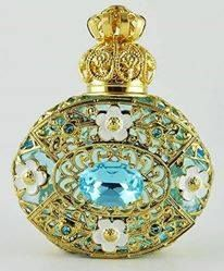 Pretty vintage perfume bottle possibly Czech                                                                                                                                                                                 More
