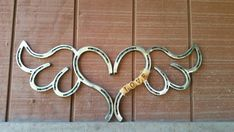 Horseshoe heart with wings by TysCountryCreations on Etsy