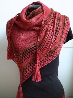 Free pattern Sock yarn on large needle Eyelets & Stocking St. Written pattern