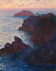 In the autumn 1886 Claude Monet sought out rugged and barren terrain on the  island of Belle-Île-en-Mer off the coast of Brittany. Centering his  activity in...