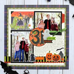 Echo Park Paper: Scrapbook Your Trick-Or-Treaters with the Hocus Pocus Collection Halloween Scrapbook, Kids Scrapbook, Scrapbook Page Layouts, Scrapbook Cards, Scrapbooking Ideas, Photo Layouts, Fall Projects, Halloween Projects, Fall Halloween