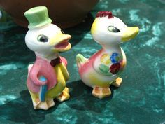 SALE Vintage 50s Japan Mr and Mrs Duck in by thevintagecabinet, $9.99