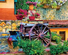Colorful Courtyard, a 1000 piece jigsaw puzzle by Springbok Puzzles.