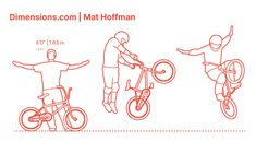 Mat Hoffman is an American BMX rider known for being one of the best vert ramp riders in the history of the sport. Mat Hoffman started riding at the age of 11 years old and learned to ride BMX in his own. He is regarded as helping build the sport throughout the decades and support to other well-known BMX riders. Downloads online #sports #bmx